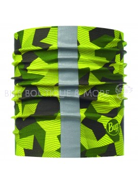 Dog Buff Reflective R-Block Camo Green S/M