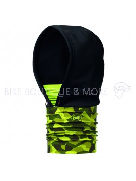 Windproof Buff Hoodie Block Camo Green
