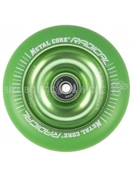 Roată Trotinetă MetalCore RADICAL 110mm - Green / Green Fluorescent