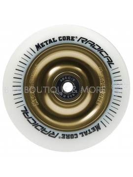 Roată Trotinetă MetalCore RADICAL 110mm - White / Gold