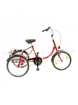 Tricicletă CSEPEL Camping 3 Wheel Red