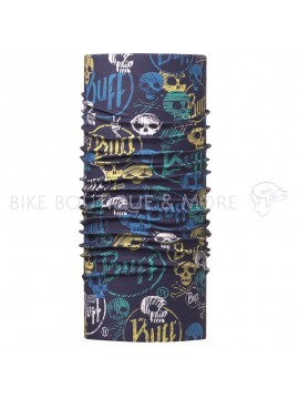 Bandană Junior High UV BUFF® FUNNY SKULLS DARK NAVY